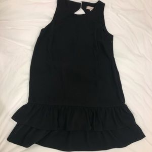 LOFT Black Ruffle Dress